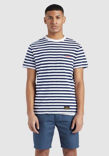 khujo T-Shirt »DESTIN STRIPES« aus reiner Baumwolle mit Streifenmuster