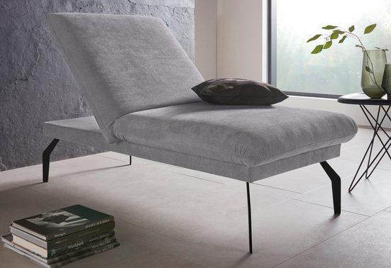 Places of Style Hockerbank »Salerno«, durch Rückenverstellung vollwertiges Sitzmöbel