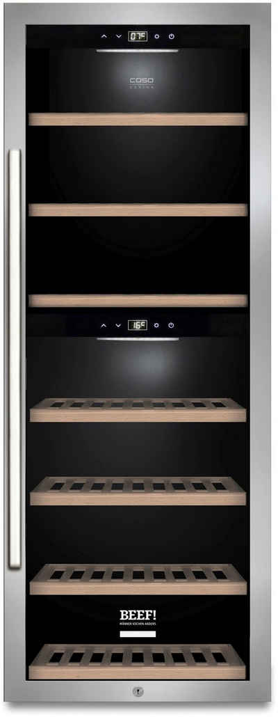 Caso Weinkühlschrank 732 WinePremium 126 Smart, für 126 Standardflaschen á 0,75l,LED-Innenbeleuchtung