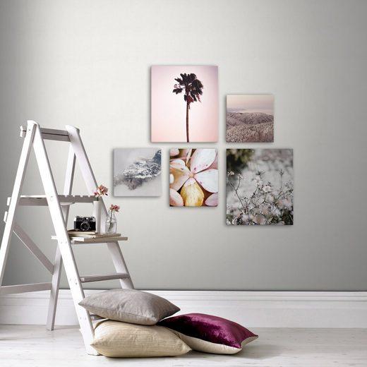WOHNIDEE-Kollektion Leinwandbild, Natur (Set), Wohnidee Soft Temptation Freiheit, 80x60cm