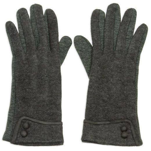 Caspar Strickhandschuhe »GLV010 elegante Damen Retro Handschuhe mit Zierknöpfen«