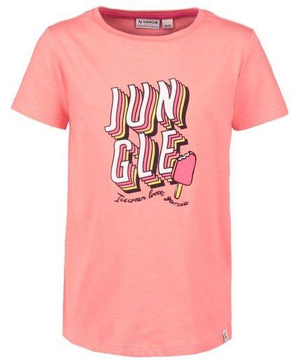 Garcia T-Shirt T-Shirt guave mit Stieleisprint