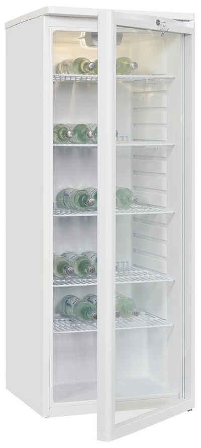 exquisit Getränkekühlschrank GKS260-GT-090F, 144 cm hoch, 54.5 cm breit, ideal für Getränke- und Flaschenlagerung