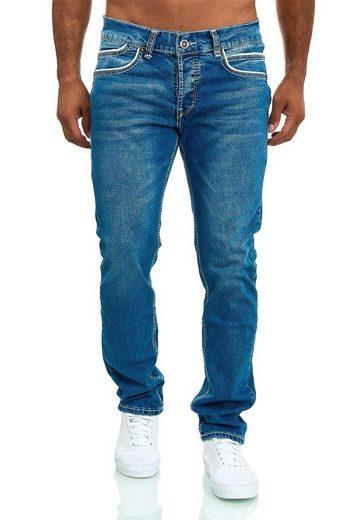 Amica Jeans Regular-fit-Jeans »3513« Herren Jeans dicke Naht Ziernähte