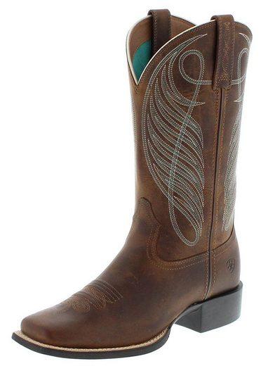 Ariat »ROUND UP WST Brown Westernreitstiefel Braun« Cowboystiefel