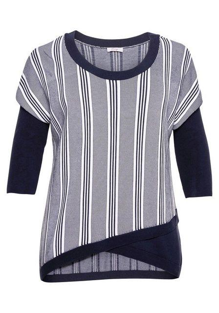 Sheego 3/4 Arm-Pullover aus reinem Tencel   Bekleidung > Pullover > 3/4 Arm-Pullover   Sheego