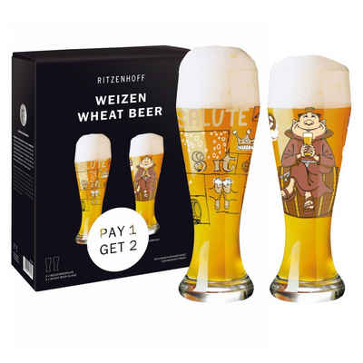 Ritzenhoff Bierglas »Weizen 2er Set 2021 Potts & Stockebrand«, Glas