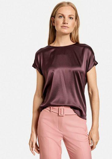 GERRY WEBER Shirtbluse im Materialmix aus Seide und Jersey
