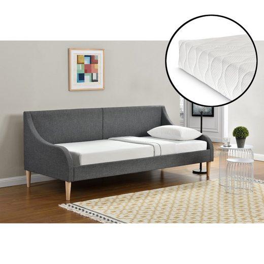 Corium Einzelbett, »Arendal« Tagesbett mit Kaltschaummatratze 90x200 cm