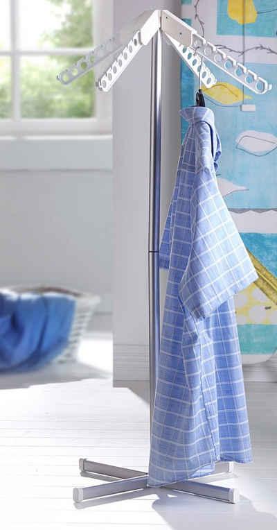 Ruco Kleiderständer, Aluminium/Kunststoff, mit 4 klappbaren Trocknerarmen für je 7 Kleiderbügel