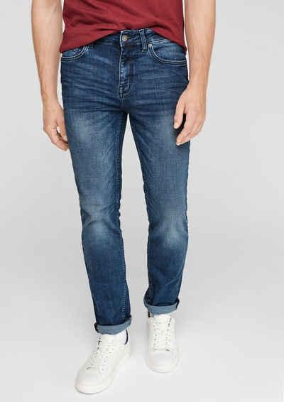 s.Oliver 5-Pocket-Jeans »Slim: Slim leg-Denim« Waschung, Label-Patch