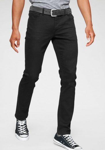 John Devin Slim-fit-Jeans mit Knopfleiste