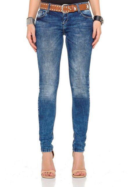 Hosen - Cipo Baxx Bequeme Jeans in tollem Design › blau  - Onlineshop OTTO