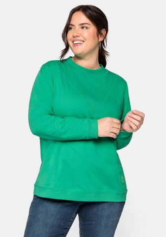 Sheego Sportinio stiliaus megztinis iš grynos...