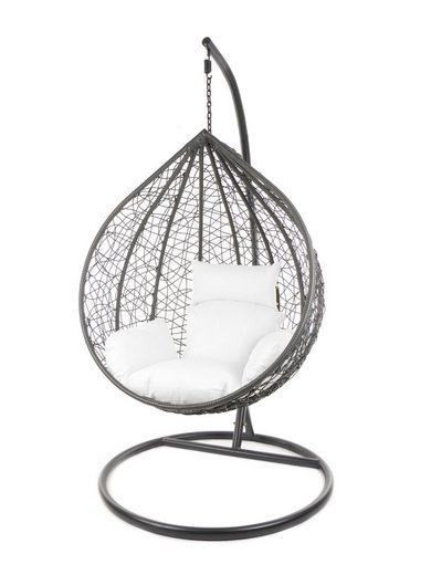 KIDEO Hängesessel »MANACOR Schwebesessel mit Gestell und Kissen, moderne Loungemöbel, In- und Outdoor«