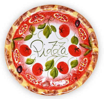 Lashuma Pizzateller »Tomate«, Großer Servierteller, Speiseteller Ø 33 cm