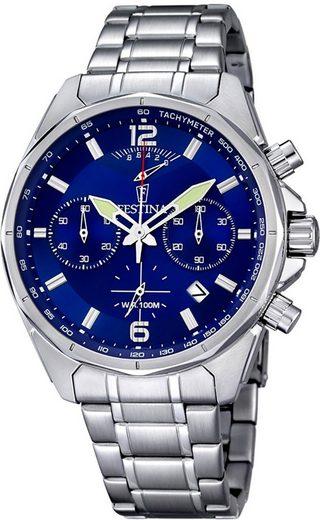 Festina Chronograph »UF6835/3 Festina Herren Uhr F6835/3 Chronograph«, (Chronograph), Herren Armbanduhr rund, Edelstahlarmband silber