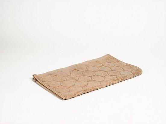 Aymando Gästehandtuch »Hexagon« (1-St), Ökologische, hautfreundliche Handtücher aus reiner BIO Baumwolle, umweltfreundlich, Made in Egypt, 30x30, Sandbeige