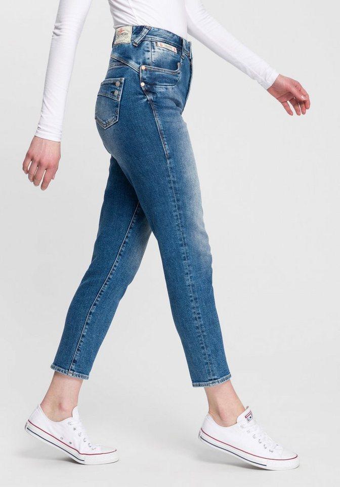 herrlicher -  High-waist-Jeans »PIPER HIGH CONIC« neuer konisch verlaufender Fit