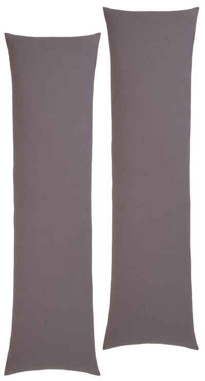 Kissenhüllen »Cremona«, Home affaire (2 Stück), aus weichem Jersey für Seitenschläferkissen