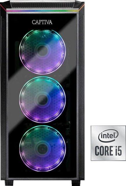 CAPTIVA G12IG 21V3 Gaming-PC Intel Core i5 10400F, GeForce RTX 3060, 16 GB RAM, 1000 GB HDD, 500 GB SSD, Luftkühlung