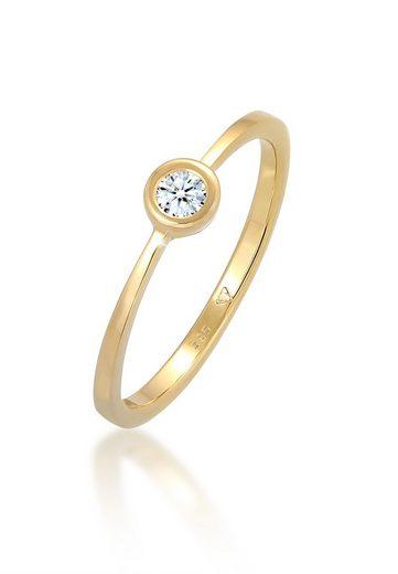 Diamore Diamantring »Verlobung Solitär Diamant 0.06 ct. 585 Gelbgold«