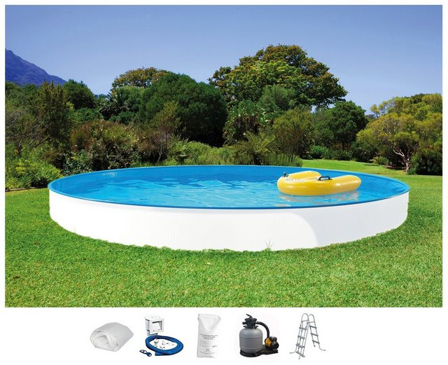 Summer Fun Set: Rundpool Rattan (5-tlg.)