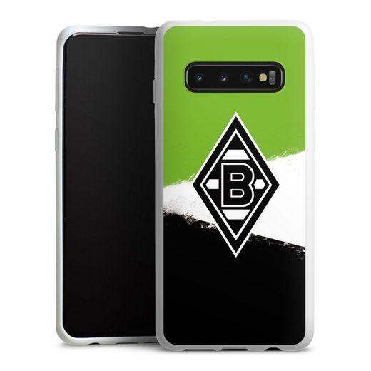 DeinDesign Handyhülle »Borussia Grunge Grün-Weiss-Schwarz« Samsung Galaxy S10, Hülle Gladbach Borussia Mönchengladbach