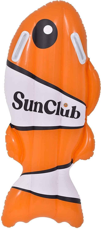 SunClub Schwimmtier »aufblasbarer Fisch Luftmatratze / Bodyboard«, 100x50cm