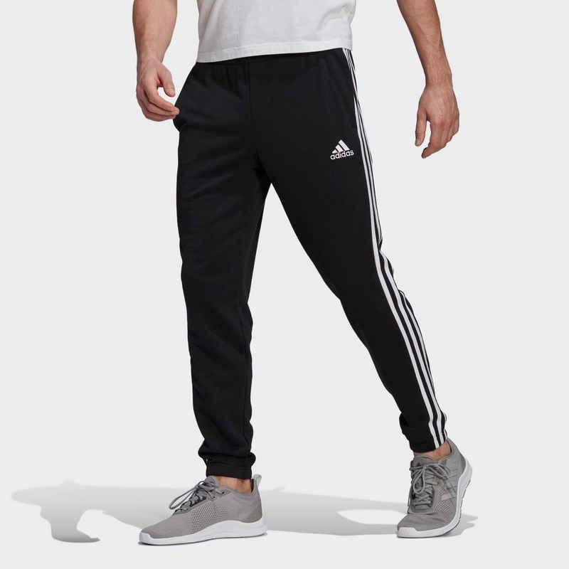 adidas Performance Jogginghose »ESSENTIALS TAPERED ELASTICCUFF 3 STRIPES PANT«