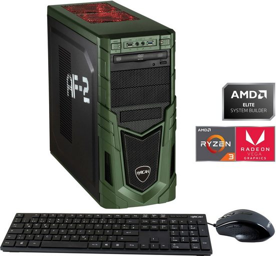 Hyrican Military Gaming 6524 Gaming-PC (AMD Ryzen 3, Radeon Vega 8, 8 GB RAM, 480 GB SSD, Luftkühlung, inkl. Office-Anwendersoftware Microsoft 365 Single im Wert von 69 Euro)