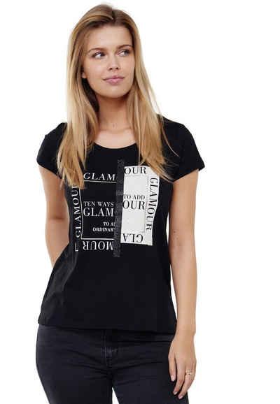 Decay T-Shirt mit modernem Brustprint