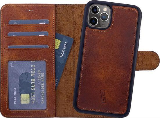 Burkley Flip Case »Apple iPhone 12 Pro Max Detachable Case Handyhülle«, herausnehmbare und magnetische Innenhülle, Kartenfächer mit RFID / NFC Blocker