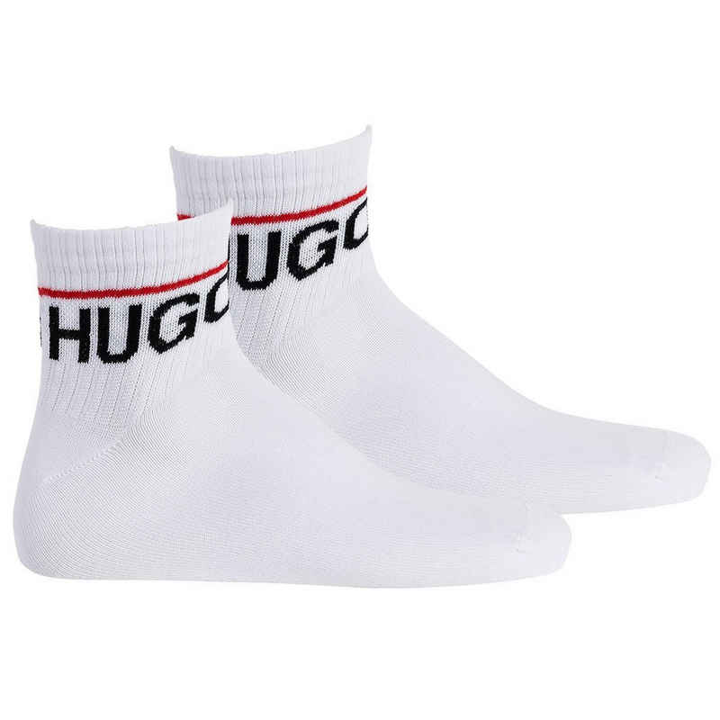 HUGO Kurzsocken »Herren Socken 2er Pack - Quarter, SH RIB LOGO CC«