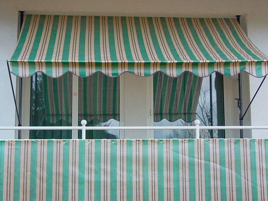 ANGERER FREIZEITMÖBEL Wind- und Sichtschutz »Nr. 1900«, grün/beige/braun, Länge nach Maß, in 2 Höhen