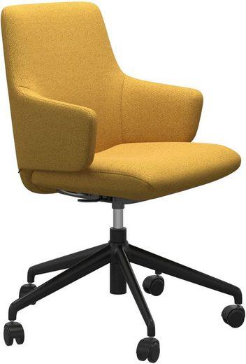 Stressless® Schreibtischstuhl »Laurel«, Low Back mit Armlehne, Größe L, mit Home Office Gestell in Schwarz matt