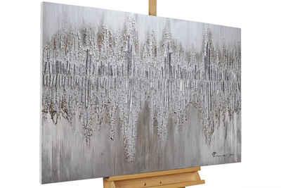 KUNSTLOFT Gemälde »Argentic Loom«, handgemaltes Bild auf Leinwand