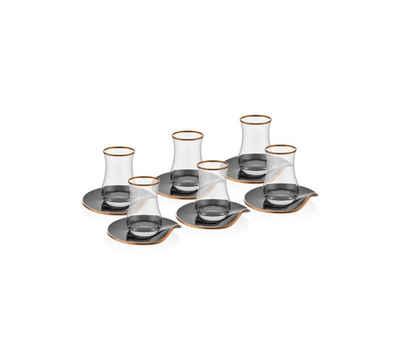 Neva Teeglas »Neva Teeglas »Neva Bitter Plus 12-teiliges Tee-Set«, Glas, 12 teilig