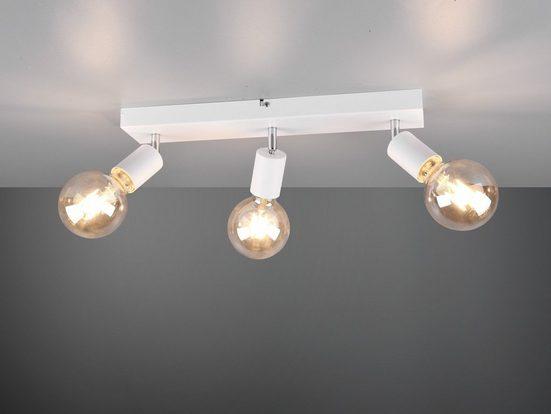 meineWunschleuchte LED Deckenstrahler, mehrflammige Balken-Leuchte, Designer Retro Decken-Lampe Industrie-Design, 3 flammig, Spots schwenkbar, Treppenhaus