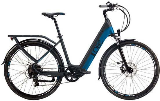 "LLobe E-Bike »Yukon Lady 28""«, 7 Gang Shimano, Kettenschaltung, Heckmotor 250 W"