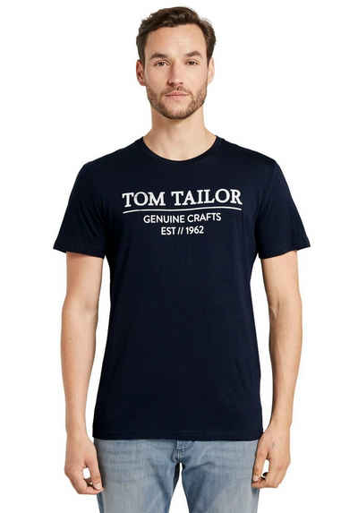 TOM TAILOR Rundhalsshirt mit großem Logofrontprint