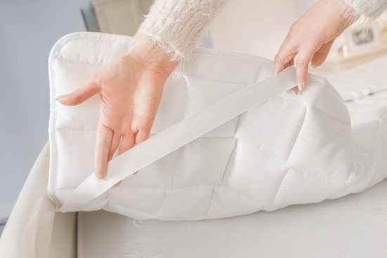 Matratzenschoner »Matratzenauflage Matratzenschoner mit Noppenstruktur 180 x200 cm, weiß«, Welt der Träume