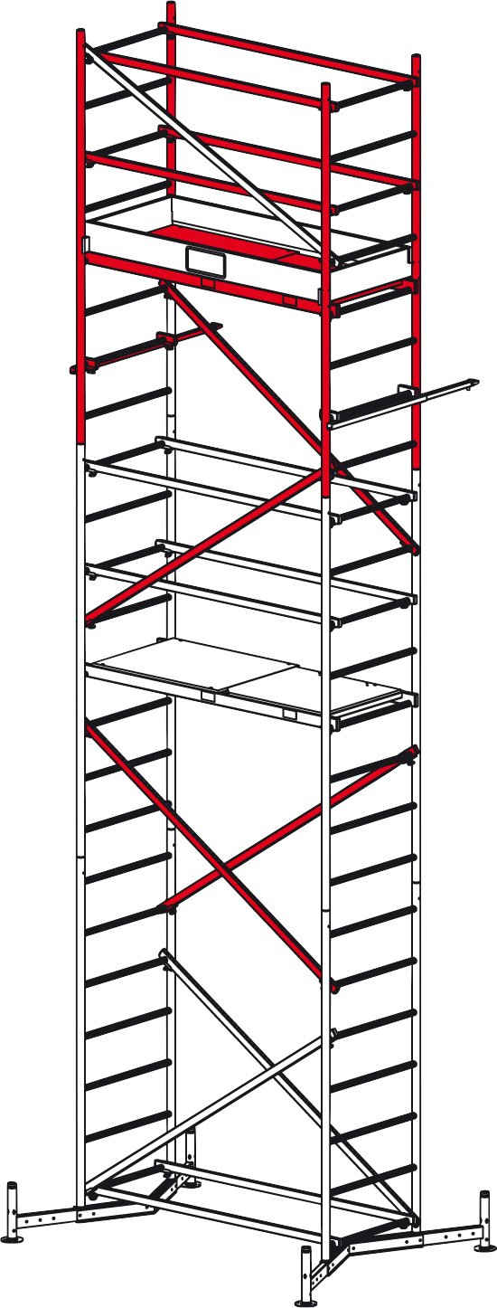KRAUSE Fahrgerüst »ClimTec Alu-Arbeits Gerüst 2. Aufstockung«, nur Aufstockung