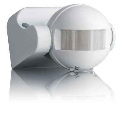 SEBSON »Bewegungsmelder Aussen IP44, Aufputz, Wand Montage, programmierbar, Infrarot Sensor, Reichweite 12m / 180°, LED geeignet, schwenkbar« Bewegungsmelder