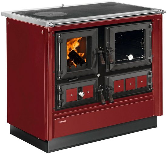 JUSTUS Festbrennstoffherd »Rustico-90 2.0«, 7.2 kW, Zeitbrand
