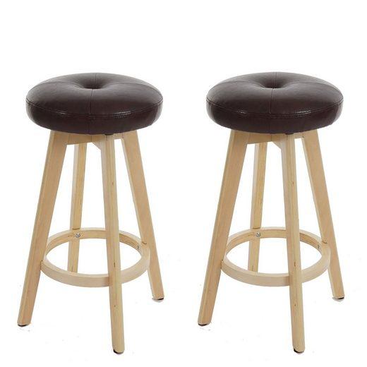 MCW Barhocker »Boras-2« (Set, 2er), Um 360° drehbar, Filzuntersetzer unter den Beinen, Gute Polsterung, für längeres Sitzen gut geeignet