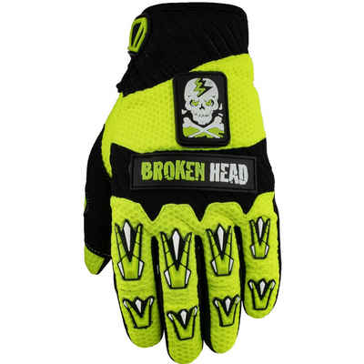Broken Head Motorradhandschuhe »Broken Head Handschuhe Faustschlag gelb« Weiteneinstellung