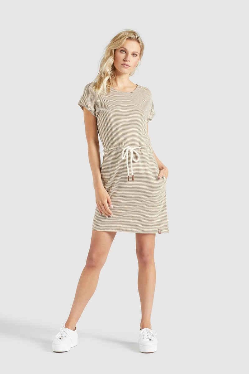 khujo Jerseykleid »ANNEMARIE« aus gestreiftem Jersey mit Eingrifftaschen