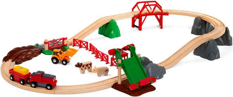 BRIO® Spielzeug-Eisenbahn »Großes Bahn Bauernhof-Set«, (30-tlg), FSC® - schützt Wald - weltweit