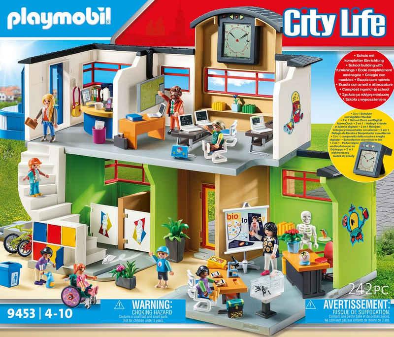 Playmobil® Konstruktions-Spielset »Große Schule mit Einrichtung (9453), City Life«, (242 St), Made in Germany